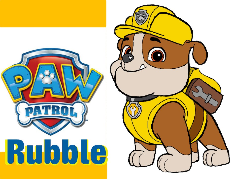Paw Patrol Rubble Pack Pup And Badge