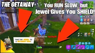 "How to Acquire NEW Llama Jewel in ""The Getaway"" FORTNITE Game Mode - Easy"