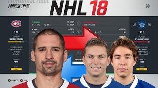 NHL 18 - PLEKANEC TO TORONTO TRADE SIMULATION