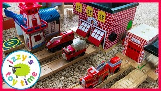 Thomas and Friends Fire Station Track! Fun Toy Trains for Kids