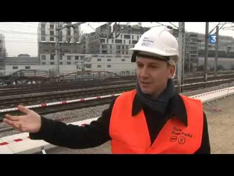 Gare RER E Rosa Parks : des travaux de titans