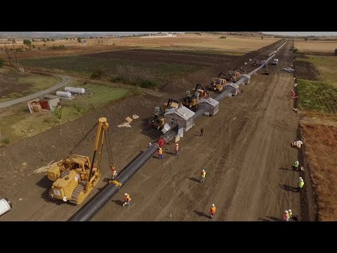 TAP view from above - Pipeline Construction Process (Under license)