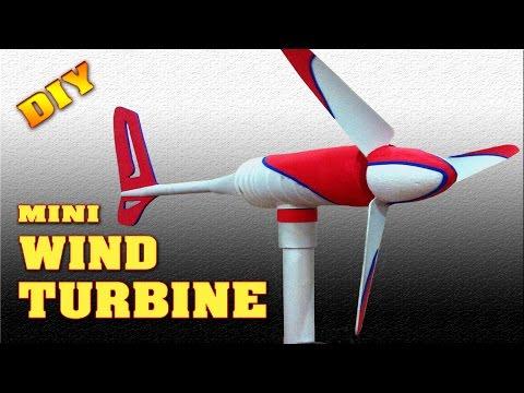 Mini Wind Turbine Homemade DIY How to make free energy generator Small Wind Mill