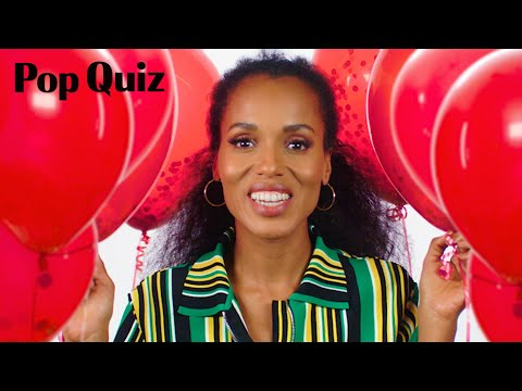 Kerry Washington Plays a Game of Pop Quiz  Marie Claire