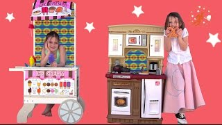 Step2 Fresh Market Kitchen & Melissa Doug Snacks & Sweets Toy Food Cart UNBOXING! Pretend Cooking