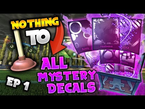 NOTHING TO EVERY MYSTERY DECAL IN ROCKET LEAGUE! *EP 1* Trading To All Black Market Mystery Decals!
