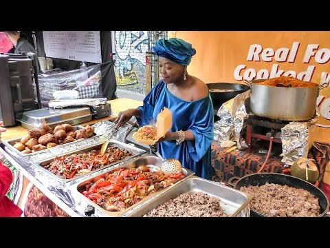 African Food from Ghana Tasted in London. Street Food of Brick Lane