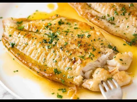 Pan-Fried Sea Bass With Garlic Lemon Butter Sauce