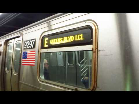 NYC Subway: Rerouted Queens bound R160 E Train leaving 34 St-Herald Sq