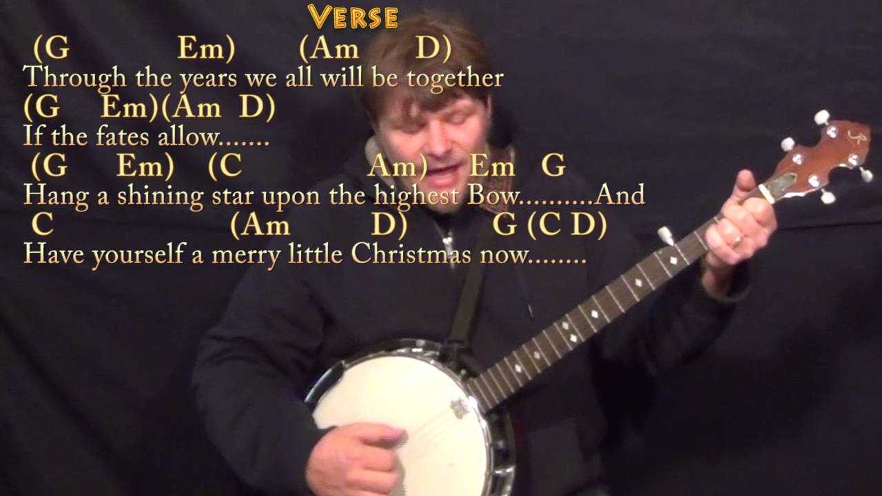 Have Yourself A Merry Little Christmas (CHRISTMAS) Banjo Cover Lesson in G - Chords/Lyrics - YouTube