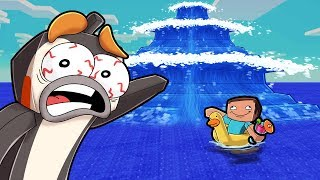Minecraft - MEGA TSUNAMI BASE CHALLENGE! (Build to Survive)