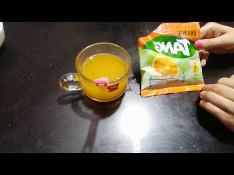 Tang Orange Instant Drink Review And How To Make Tang Juice