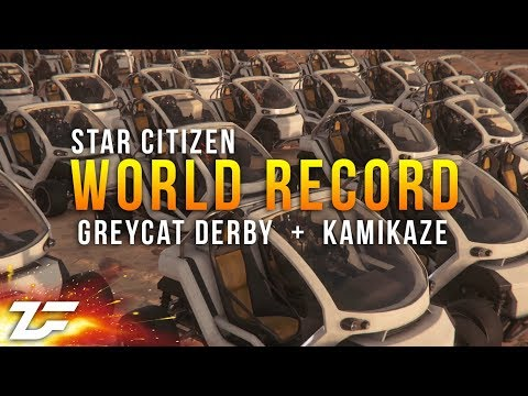 Star Citizen WORLD RECORD 30 player kamikaze + 40 player Greycat Derby