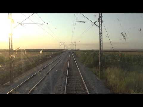 Train Driver's view: railroad in Serbia from Ruma to Putinci - SERBIAN RAILWAYS