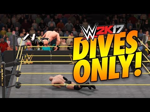 WWE 2K17 - TOP ROPE ONLY CHALLENGE!! (.....DIVE)