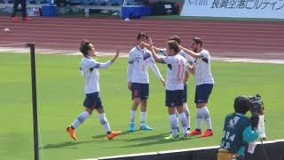 長崎 vs FC東京@トラスタ 56分、室屋のクロスをディエゴ・オリヴェイラ...