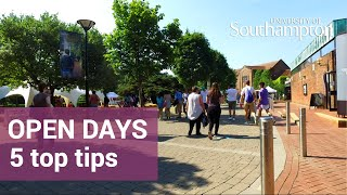 Open Days, Top Tips | University of Southampton