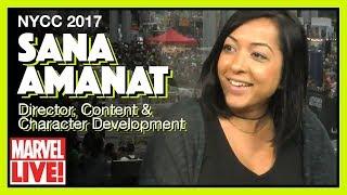 Sana Amanat Talks Women in Marvel - Marvel LIVE! NYCC 2017