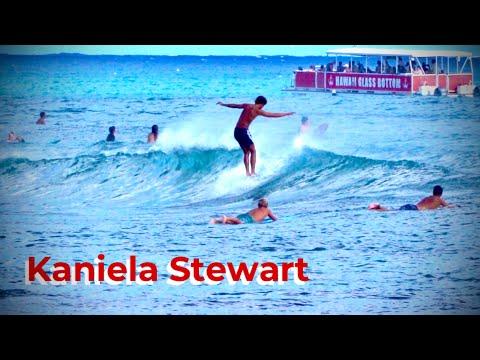 คาเนียลา สจ๊วร์ต    Longboard Surfing    ชายฝั่งทางใต้ของโออาฮู