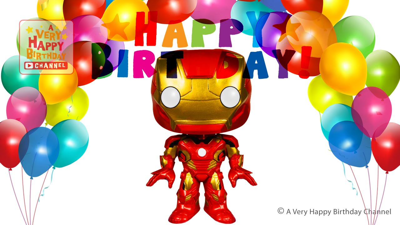 Iron Man Sings Happy Birthday Song Greetings