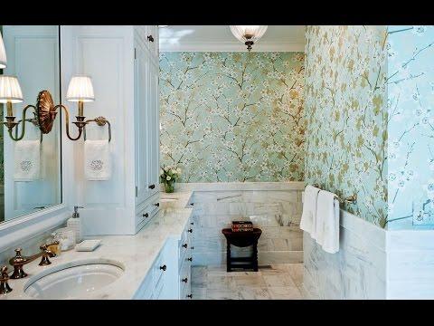 Стильные обои для ванной комнаты