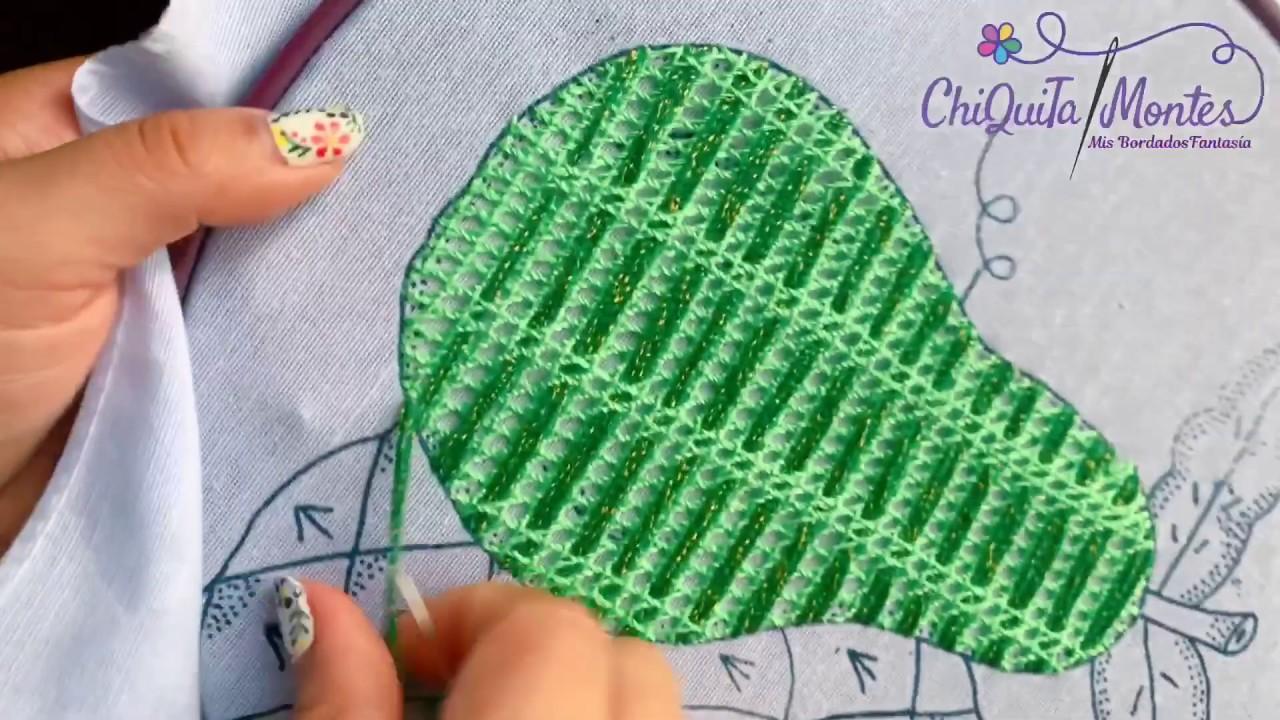 Bordado Fantasía Pera 10 / Hand Embroidery Pear / Fantasy Stitch