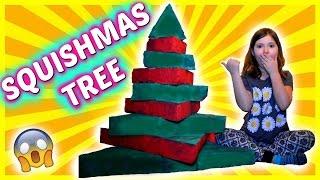 BIG SQUISHY CHRISTMAS TREE DIY: How to make a Squishmas Tree | Sedona Fun Kids TV