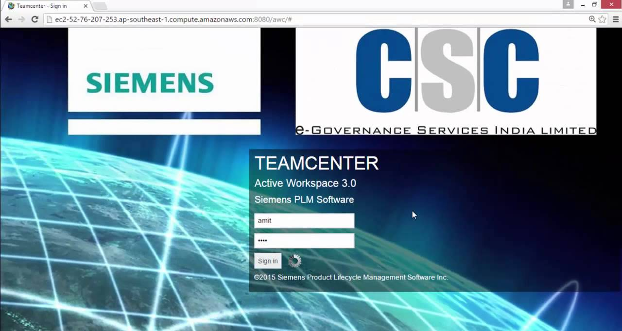 How to login into Teamcenter