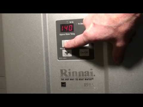 Increase Max Temperature On A Rinnai Tankless Water Heater From 120 Degrees To 140 Degrees