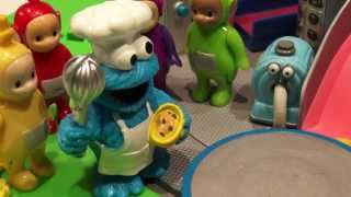 Play Doh Teletubbies Bacon And Egg Breakfast By Cookie Monster Chef