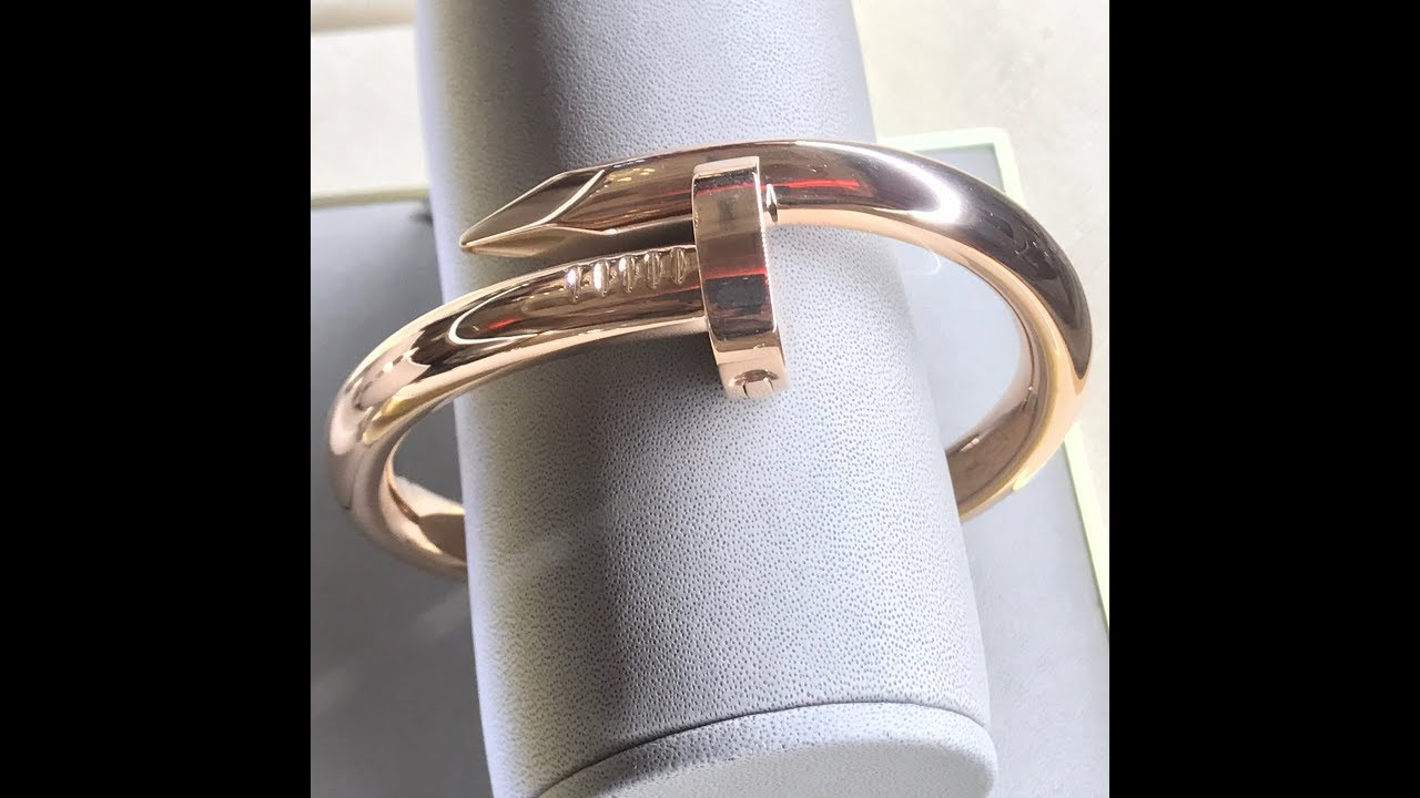 Malaysia Cartier large nail bracelet - YouTube