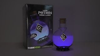 LED Potion Desk Lamp by ThinkGeek Unboxing & Test