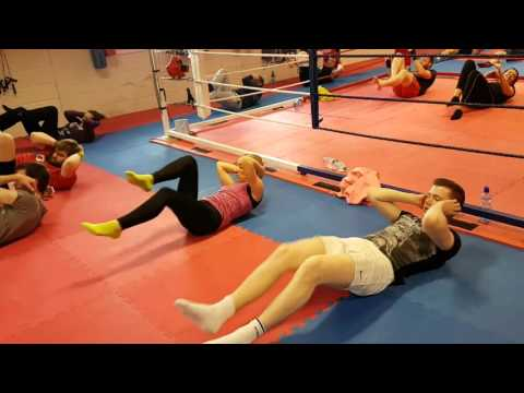 Latin Quarter White Collar Boxing Event Training 26/04/2016