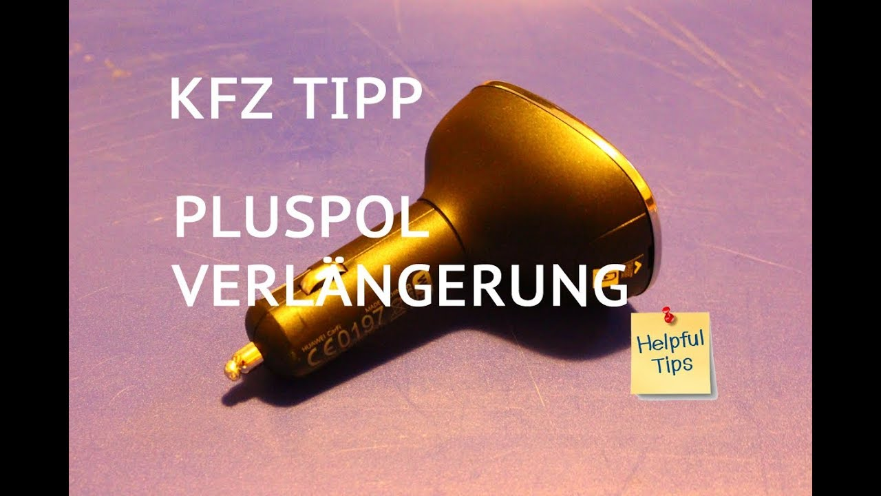 pluspol verl ngerung 12v kfz adapter f r zigarettenanz nder steckdose ohne strom youtube. Black Bedroom Furniture Sets. Home Design Ideas