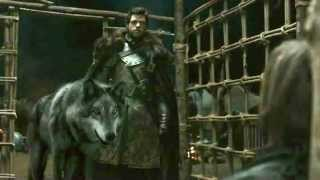 Game of Thrones 2x01 Direwolf Scene