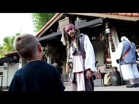 Captain Jack Sparrow's Pirate Tutorial at Magic Kingdom Full Show