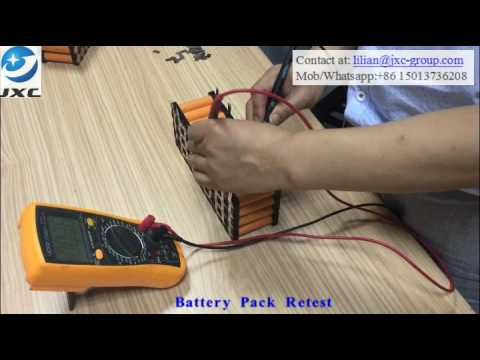 Power Pack Hand Making---Step 6 Welded Battery Retest
