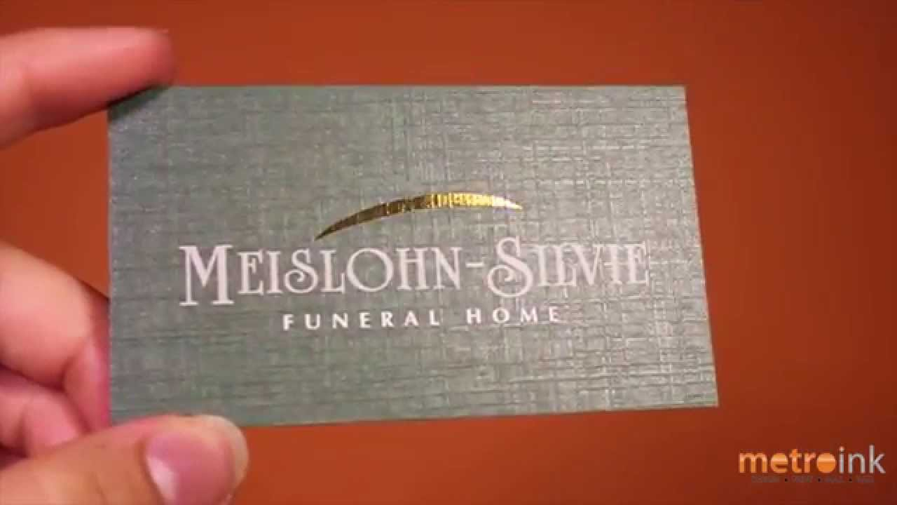 metroink linen with gold foil business card meisloun silvie youtube - Linen Business Cards
