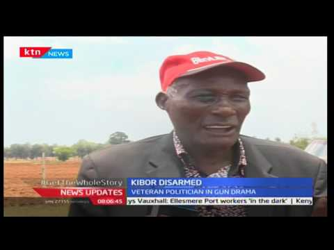 Prominent farmer and a veteran politician Jackson Kibor disarmed following gun drama