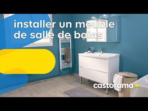 Comment poser un meuble vasque dans une salle de bains ? (Castorama)