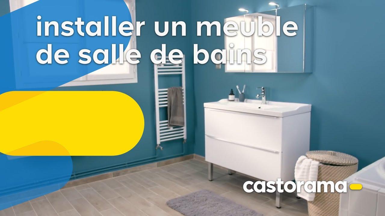 comment poser un meuble vasque dans une salle de bains castorama