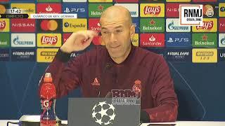 Rueda de prensa de ZIDANE previa Shakhtar Donetsk - Real Madrid (30/11/2020)