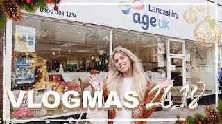 CHRISTMAS CHARITY SHOPPING / THRIFT WITH ME | VLOGMAS 2018