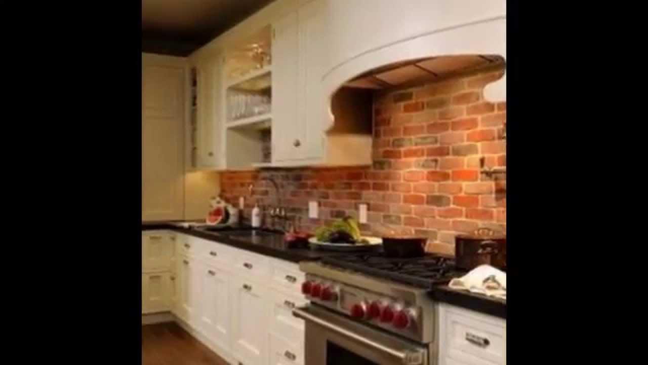 Brick Kitchen Backsplash 42 Inch Sink Elegant As Ideas 2015 Youtube