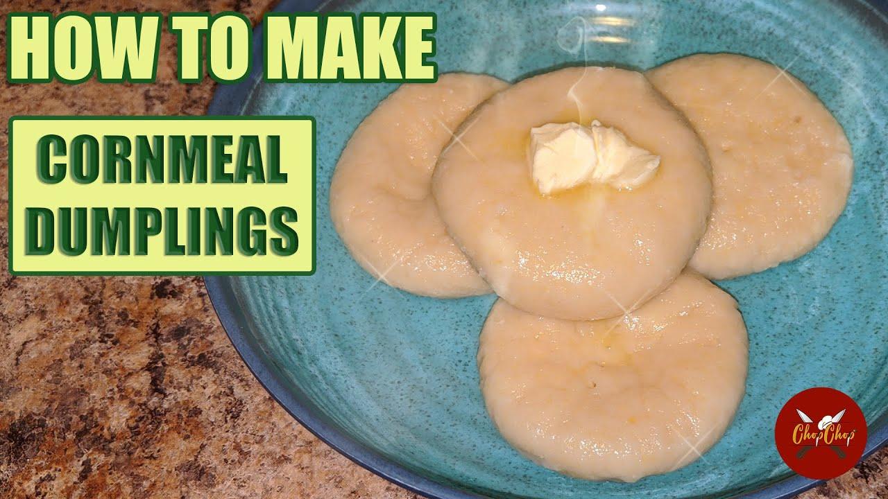 how to make jamaican boiled cornmeal dumplings  chop chop