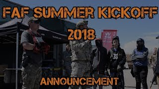FAF Summer Kickoff 2018 Announcement - Fox Airsoft