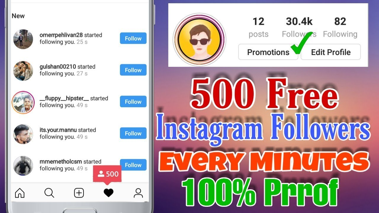 Get 500 Free Instagram Followers Every Hour 2019 || HOW TO INCREASE  INSTAGRAM FOLLOWERS