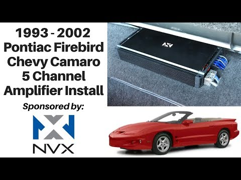 1993 - 2002 Pontiac Firebird / Camaro 5 Channel Amp Install - YouTubeYouTube