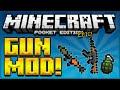 ★GUN MOD FOR MCPE! - Adds Assault Rifles, Grenades, RPG, Pistols & More! - Minecraft Pocket Edition★