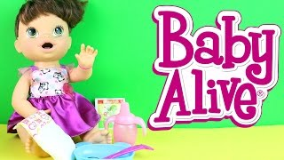 baby alive hora de comer baby alive my baby all gone pooping peeing doll em portugus